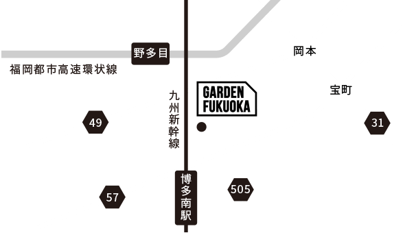 福岡県福岡市南区弥永4丁目3-1「ガーデン福岡」辺地図