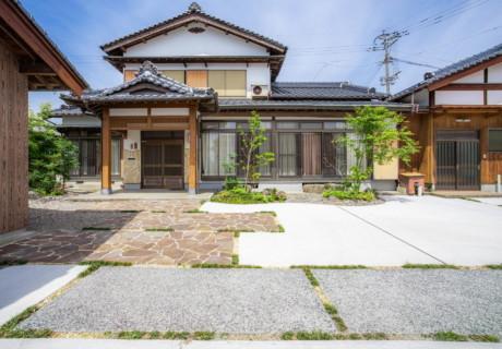 福岡県朝倉市「緑あふれる和風のアプローチ」リフォーム外構工事