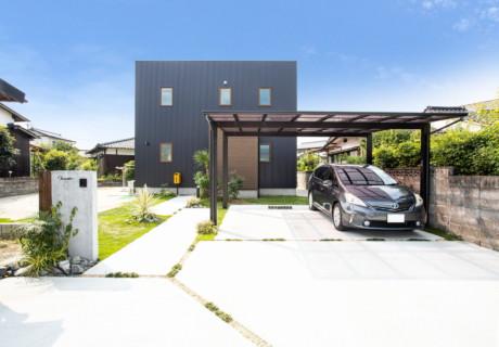 福岡県朝倉市「シンプルでナチュラルなエクステリア」外構工事